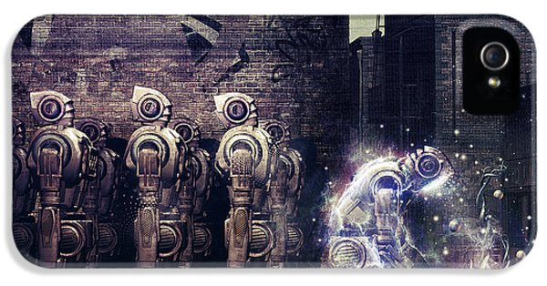 Robot iPhone 5 Cases - Wake Up iPhone 5 Case by Cameron Gray