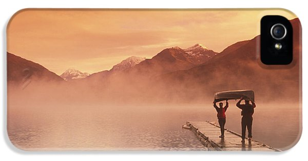 Walking On Dock Robe Lake  Sunrise Sc IPhone 5 / 5s Case by Michael DeYoung
