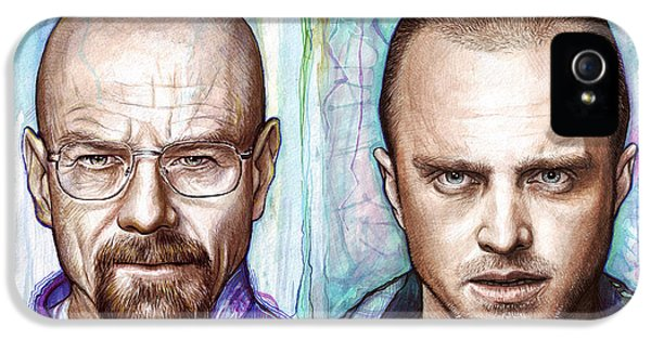 Tv Show iPhone 5 Cases - Walter and Jesse - Breaking Bad iPhone 5 Case by Olga Shvartsur