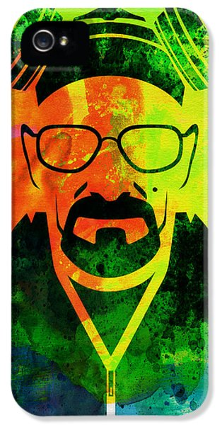 Tv Show iPhone 5 Cases - Walter Watercolor iPhone 5 Case by Naxart Studio