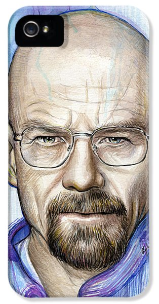 Tv Show iPhone 5 Cases - Walter White - Breaking Bad iPhone 5 Case by Olga Shvartsur