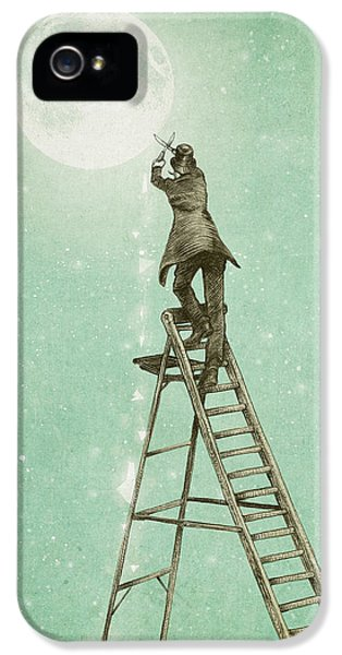 Ladder iPhone 5 Cases - Waning Moon iPhone 5 Case by Eric Fan