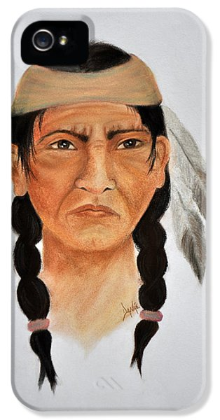 Scowl iPhone 5 Cases - Warrior iPhone 5 Case by Danae McKillop