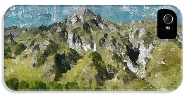 Mountain iPhone 5 Cases - Washed Out iPhone 5 Case by Ayse Deniz