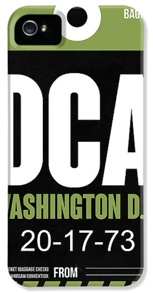 Washington iPhone 5 Cases - Washington D.C. Airport Poster 2 iPhone 5 Case by Naxart Studio