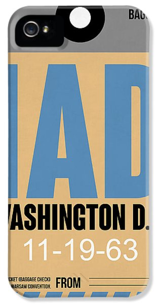 Washington iPhone 5 Cases - Washington D.C. Airport Poster 3 iPhone 5 Case by Naxart Studio