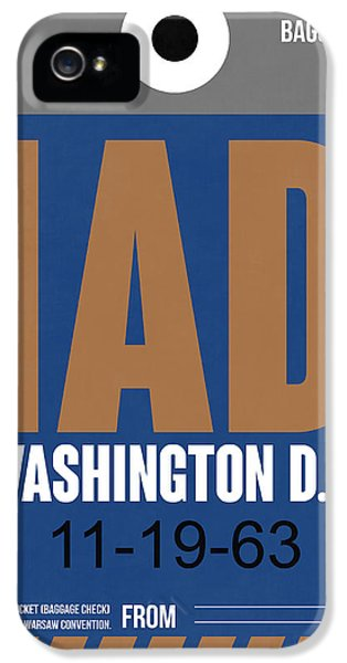 Washington iPhone 5 Cases - Washington D.C. Airport Poster 4 iPhone 5 Case by Naxart Studio
