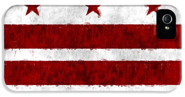 District Columbia iPhone 5 Cases - Washington D.C. Flag iPhone 5 Case by World Art Prints And Designs