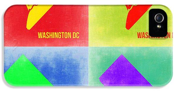 Washington D.c. iPhone 5 Cases - Washington DC Pop Art Map 2 iPhone 5 Case by Naxart Studio