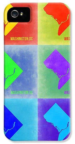 Washington D.c. iPhone 5 Cases - Washington DC Pop Art Map 3 iPhone 5 Case by Naxart Studio