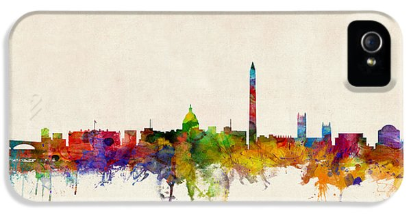 United iPhone 5 Cases - Washington DC Skyline iPhone 5 Case by Michael Tompsett