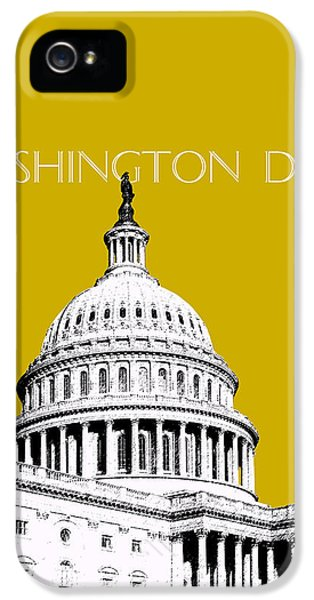 Senate iPhone 5 Cases - Washington DC Skyline The Capital Building - Gold iPhone 5 Case by DB Artist
