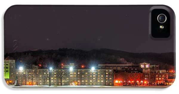 Hdr iPhone 5 Cases - Washington Hall at Night iPhone 5 Case by Dan McManus