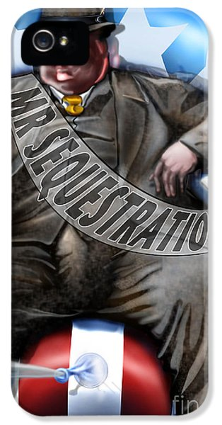 President Obama iPhone 5 Cases - Washington Sitting Down On The Job iPhone 5 Case by Reggie Duffie