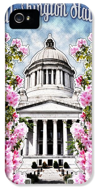 Senate iPhone 5 Cases - Washington State Capitol iPhone 5 Case by April Moen