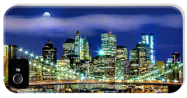 Hudson River iPhone 5 Cases - Watching Over New York iPhone 5 Case by Az Jackson