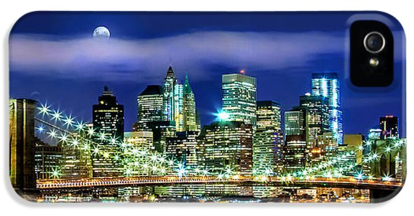 Midtown iPhone 5 Cases - Watching Over New York iPhone 5 Case by Az Jackson