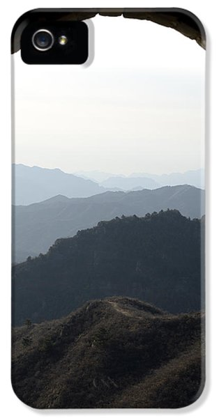 Nl iPhone 5 Cases - Watchtower Window View - Great Wall of China iPhone 5 Case by Brendan Reals