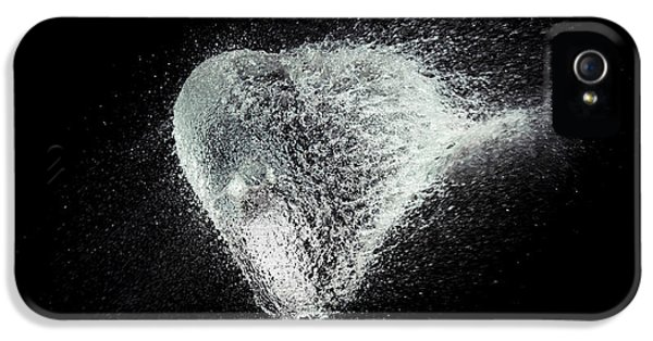 Waterdrop iPhone 5 Cases - Water Heart iPhone 5 Case by Tim Gainey
