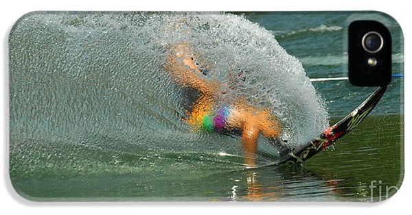 Health Fitness iPhone 5 Cases - Water Skiing 5 Magic of Water iPhone 5 Case by Bob Christopher
