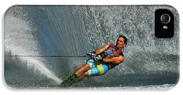 Health Fitness iPhone 5 Cases - Water Skiing Magic of Water 14 iPhone 5 Case by Bob Christopher