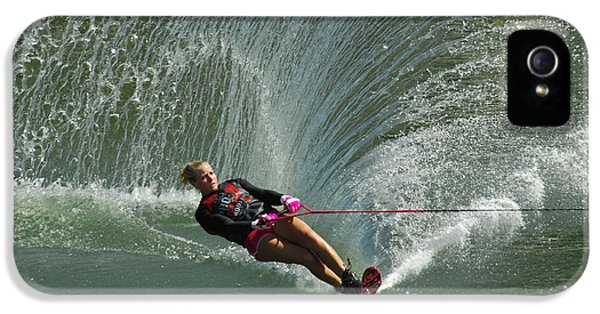 Health Fitness iPhone 5 Cases - Water Skiing Magic of Water 27 iPhone 5 Case by Bob Christopher