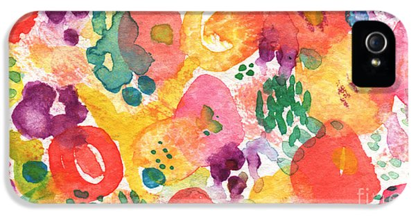 Watercolor Garden IPhone 5 / 5s Case by Linda Woods