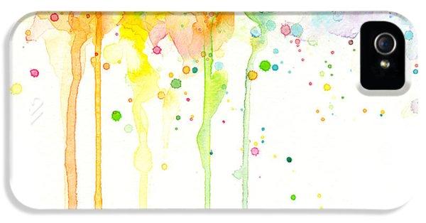 Gay iPhone 5 Cases - Watercolor Rainbow iPhone 5 Case by Olga Shvartsur