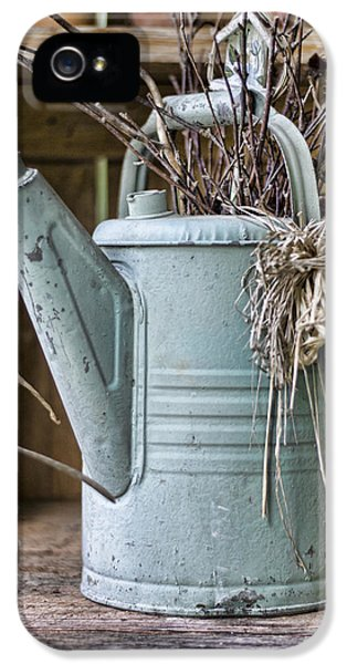 Potting Shed iPhone 5 Cases - Watering Can Pot iPhone 5 Case by Heather Applegate