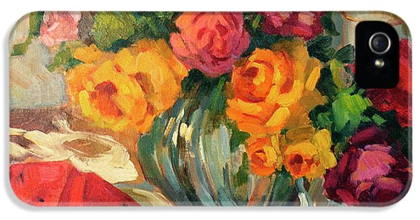 Watermelon And Roses IPhone 5 / 5s Case by Diane McClary