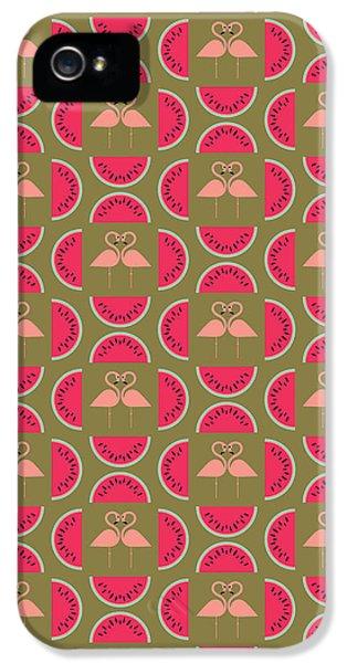Watermelon Flamingo Print IPhone 5 / 5s Case by Susan Claire