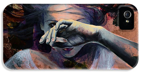 Girls iPhone 5 Cases - Wavering... iPhone 5 Case by Dorina  Costras