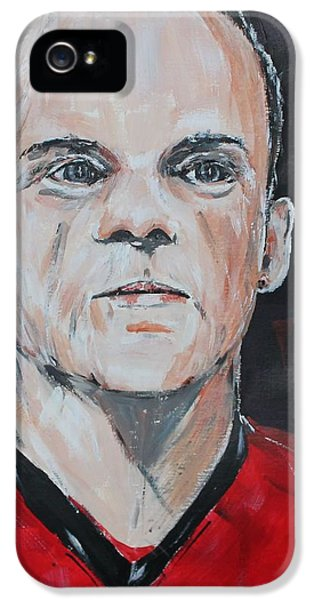 Wayne Rooney IPhone 5 / 5s Case by John Halliday