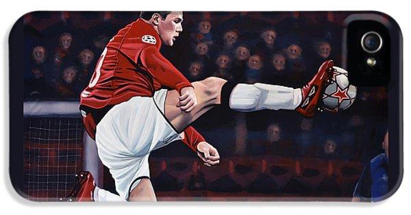 Wayne Rooney IPhone 5 / 5s Case by Paul Meijering
