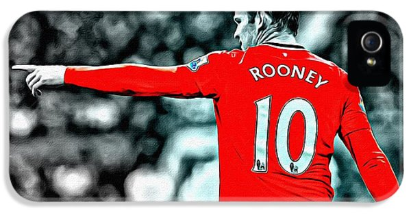 The Dream Team iPhone 5 Cases - Wayne Rooney Poster Art iPhone 5 Case by Florian Rodarte