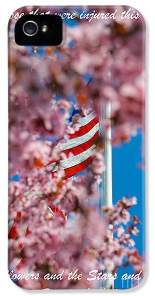 Stars And Strips iPhone 5 Cases - We Honor those lost and injured in Boston iPhone 5 Case by Mark Dodd