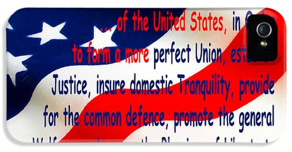 Us Constitution iPhone 5 Cases - We The People iPhone 5 Case by Floyd Snyder