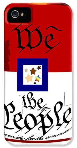 We The People iPhone 5 Cases - We The People Pop Art Print iPhone 5 Case by AdSpice Studios