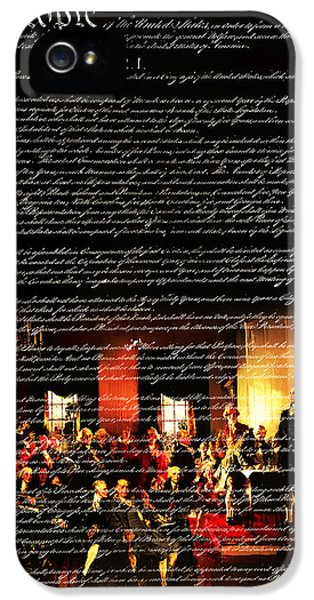 Us Constitution iPhone 5 Cases - We The People - The US Constitution 20131220 iPhone 5 Case by Wingsdomain Art and Photography