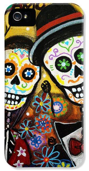 Mexican iPhone 5 Cases - Wedding Dia De Los Muertos iPhone 5 Case by Pristine Cartera Turkus