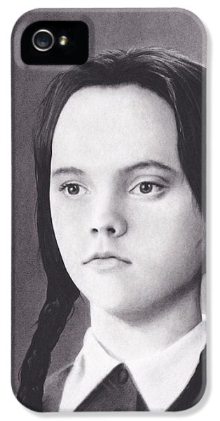 Wednesday iPhone 5 Cases - Wednesday Addams iPhone 5 Case by Brittni DeWeese