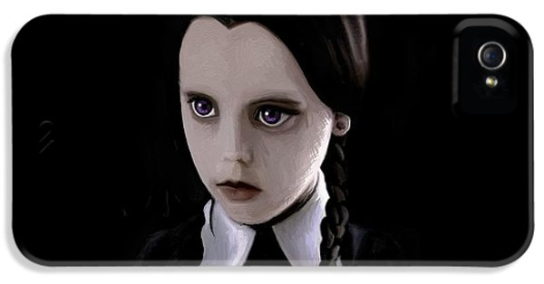 Wednesday iPhone 5 Cases - Wednesday Addams iPhone 5 Case by Sky Wonders