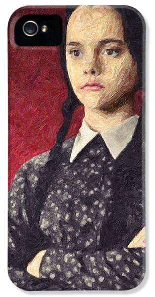 Wednesday iPhone 5 Cases - Wednesday Addams iPhone 5 Case by Taylan Soyturk