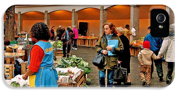 Wednesday iPhone 5 Cases - Wednesday Market in Cascais-Portugal iPhone 5 Case by Ruth Hager