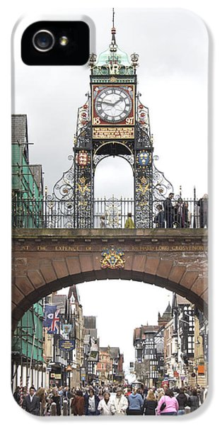 Clock iPhone 5 Cases - Welcome to Chester iPhone 5 Case by Mike McGlothlen