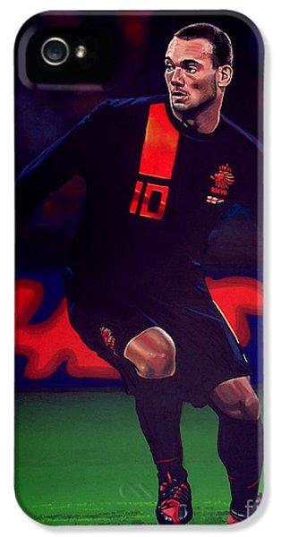Bronze iPhone 5 Cases - Wesley Sneijder  iPhone 5 Case by Paul  Meijering