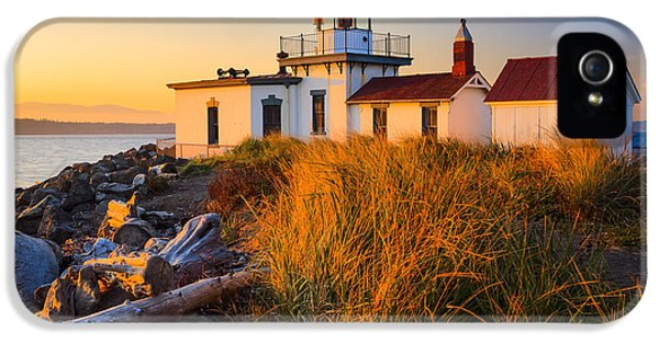 Pacific Northwest iPhone 5 Cases - West Point Lighthouse iPhone 5 Case by Inge Johnsson