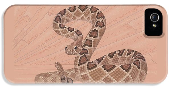 Western Diamondback Rattlesnake IPhone 5 / 5s Case by Nathan Marcy