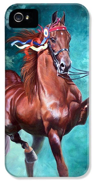 Equine iPhone 5 Cases - WGC Courageous Lord iPhone 5 Case by Jeanne Newton Schoborg