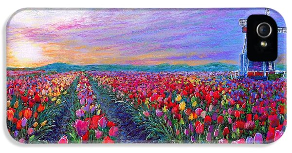 Tulips iPhone 5 Cases - What Dreams Have Come iPhone 5 Case by Jane Small